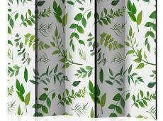 Paraván - Green Twigs II [Room Dividers]